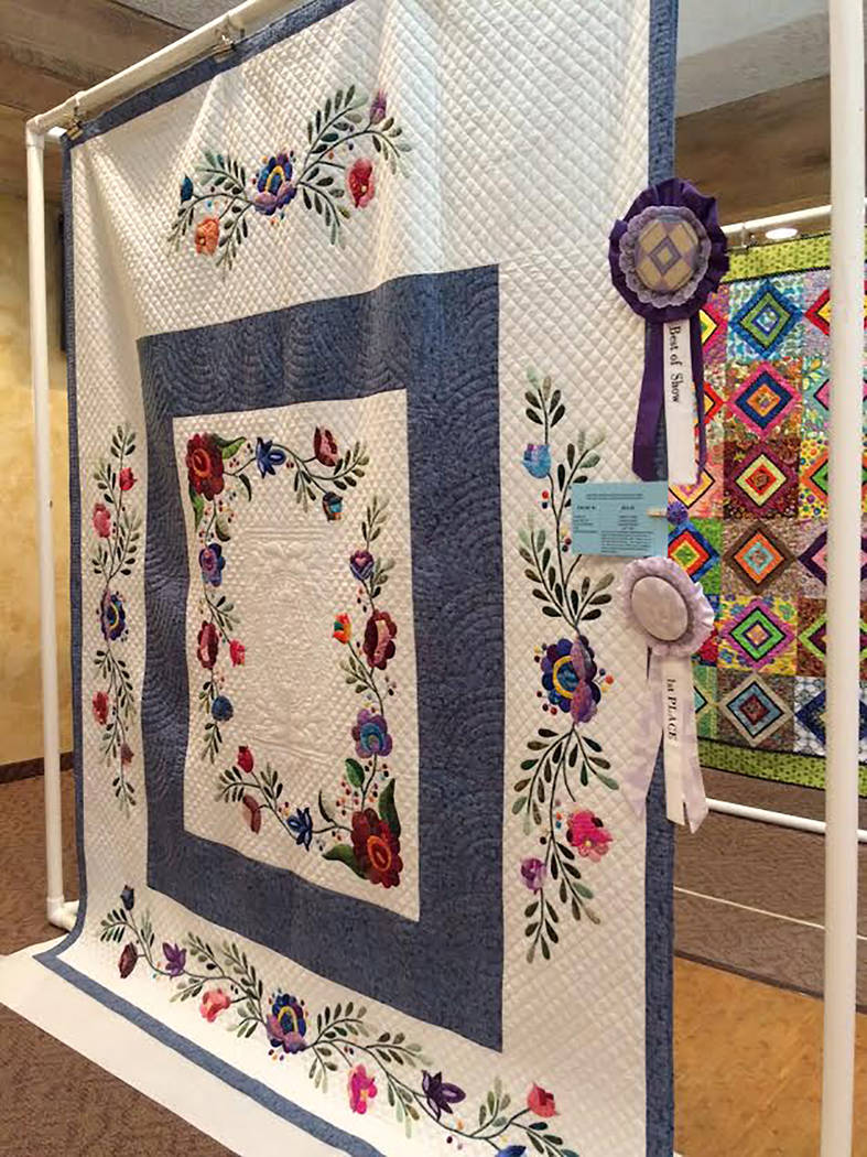 Robin Hebrock/Pahrump Valley Times The 2018 Pins and Needles Quilt Show Best in Show winner was ...