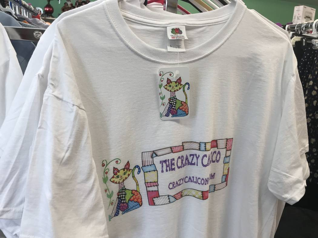 Jeffrey Meehan/Pahrump Valley Times The Crazy Calico, a new consignment store in Pahrump, sells ...