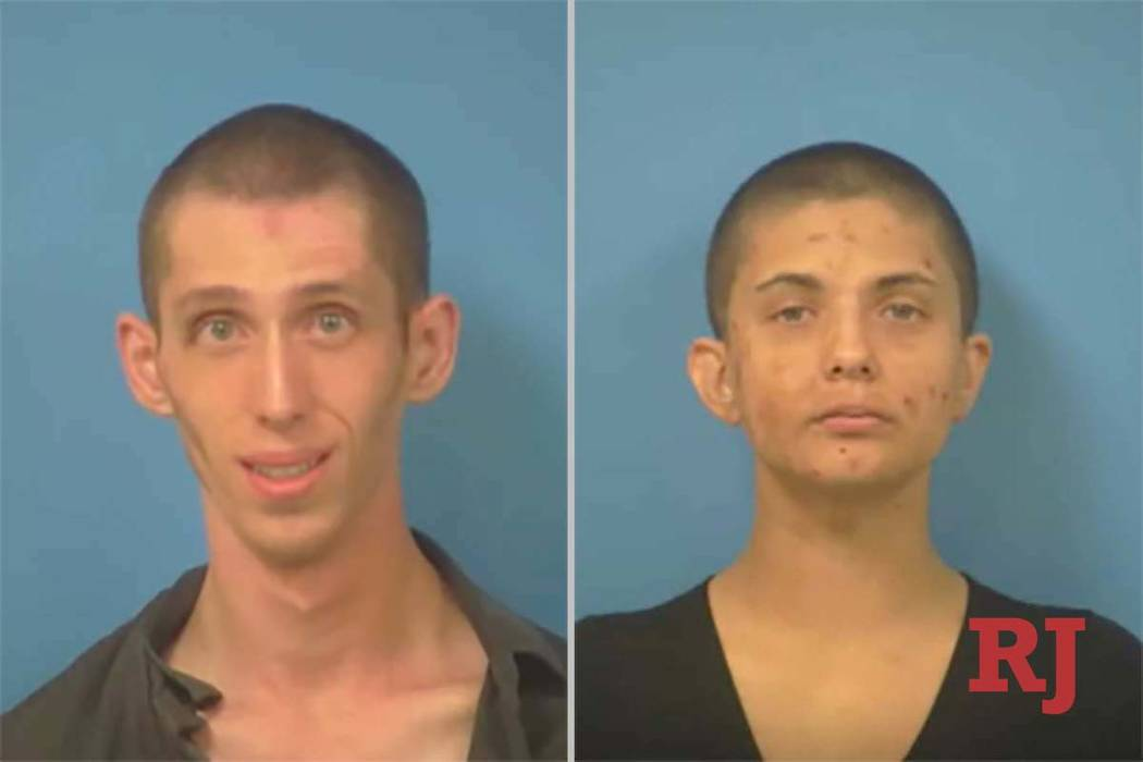 Nye County Sheriff's Office via Review-Journal Suspects Alexander Reilly, 23, left and Raven ...