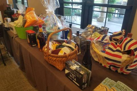 David Jacobs/Pahrump Valley Times Some of the items for the 2018 Quarter Auction to benefit the ...