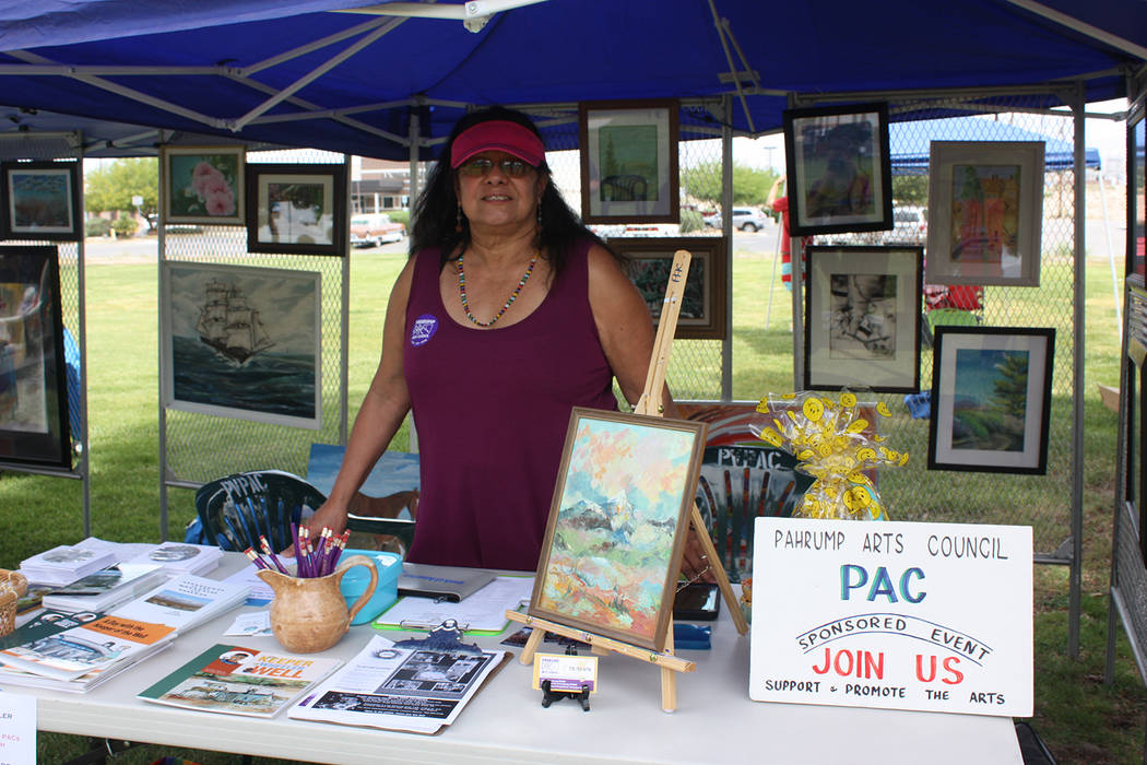 Robin Hebrock/Pahrump Valley Times The Pahrump Arts Council's vendor booth at the Art and Sol F ...