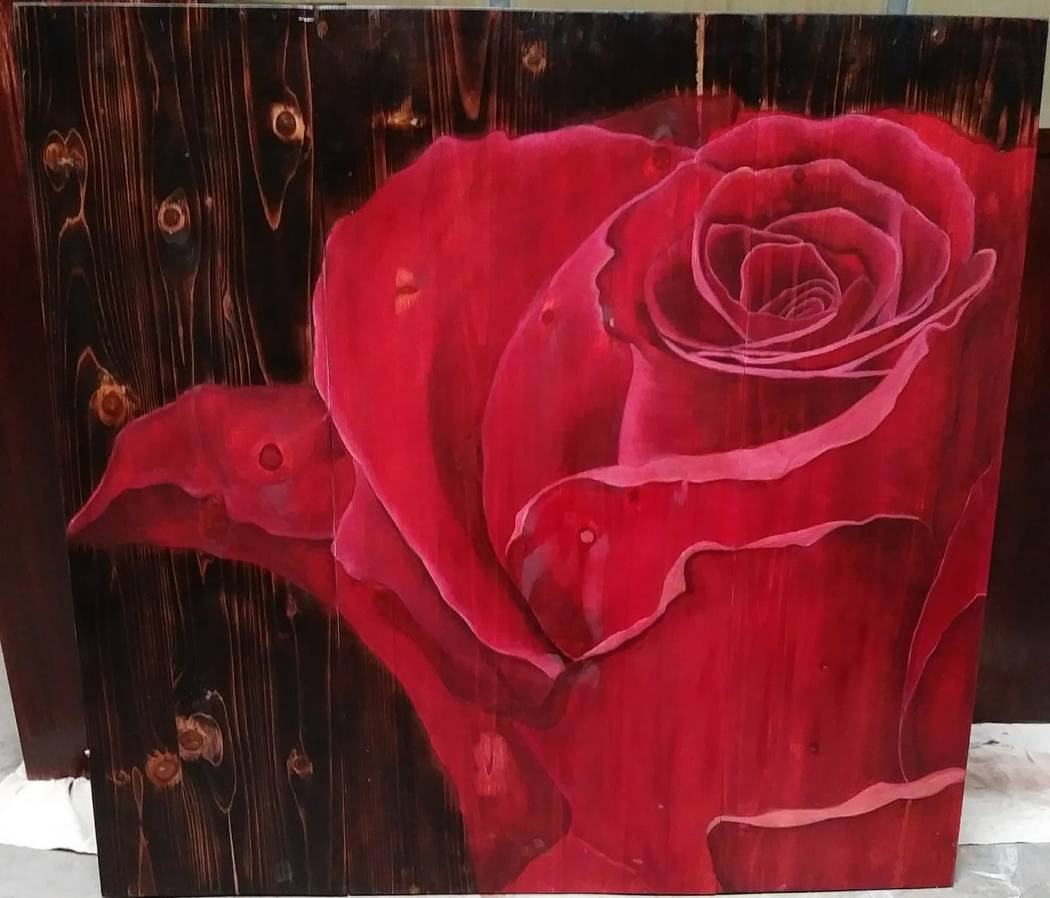 Remagine/Special to the Pahrump Valley Times Richayne Jenkins, a Pahrump self-taught artist, d ...
