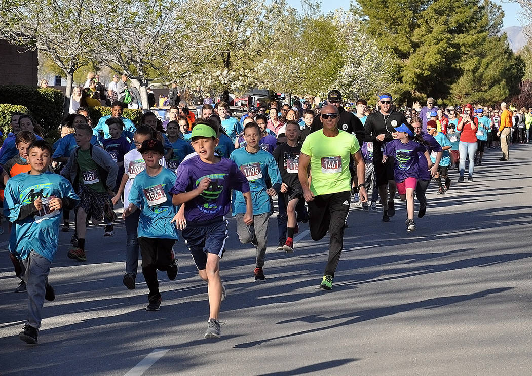 Horace Langford Jr./Pahrump Valley Times With vigorous spirit, participants in the 11th Annual ...