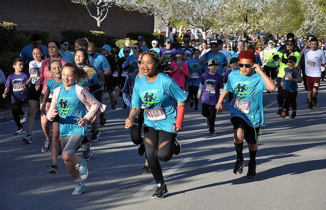 Horace Langford Jr./Pahrump Valley Times Enthusiasm and energy filled the air as the many part ...