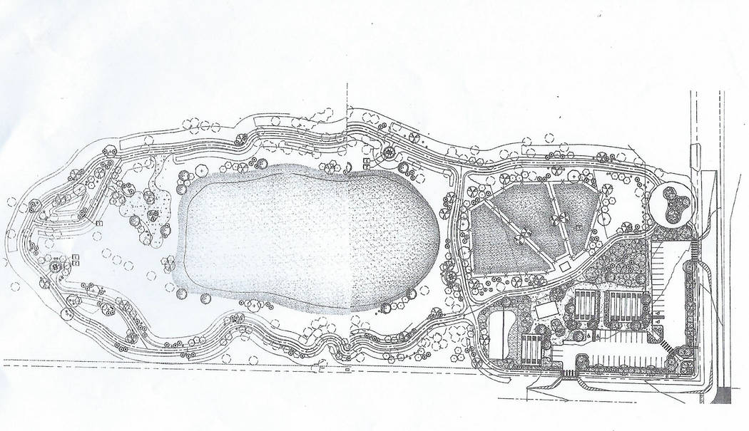 Special to the Pahrump Valley Times This rendering of Kellogg Park was provided by the town of ...