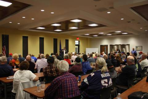 Robin Hebrock/Pahrump Valley Times The Valley Conference Center was filled with residents all i ...