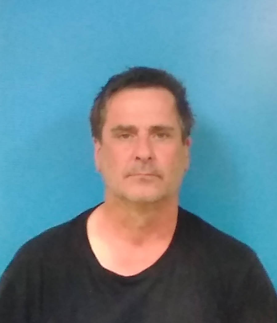 Special to the Pahrump Valley Times Beatty resident Paul Kain, 55, was arrested for allegedly t ...