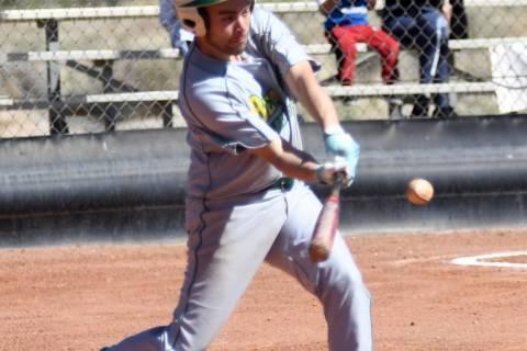 Richard Stephens/Special to the Pahrump Valley Times Beatty senior Geo Maldonado, shown hitting ...