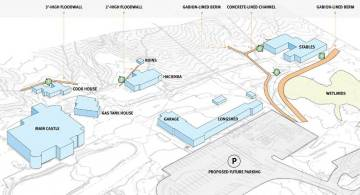 Death Valley National Park An artist's rendering shows the Scotty's Castle attraction site, sh ...