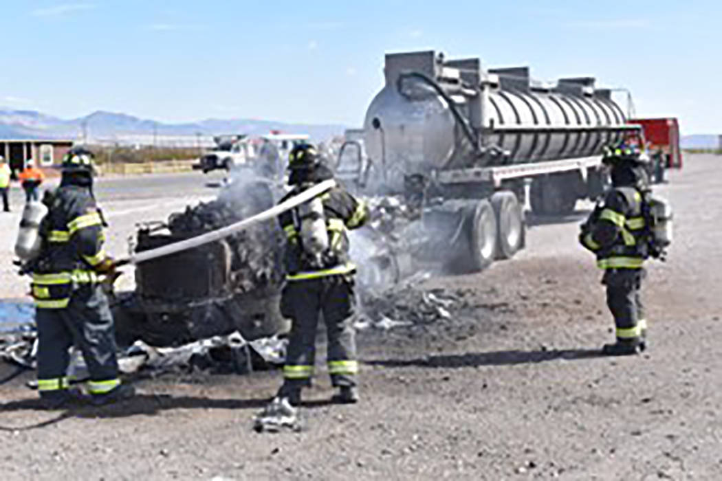 Special to the Pahrump Valley Times Pahrump fire crews were dispatched for a mutual aid assignm ...