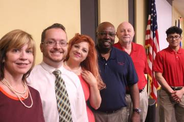 Jeffrey Meehan/Pahrump Valley Times Shown is the team working to bring Pahrump Valley Academy t ...