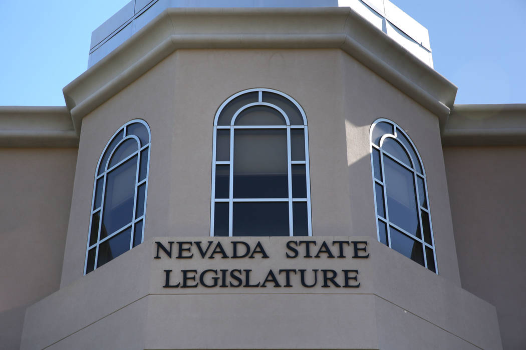 The Nevada Legislative Building is pictured in Carson City, Nev., Saturday, October 8, 2016. (D ...
