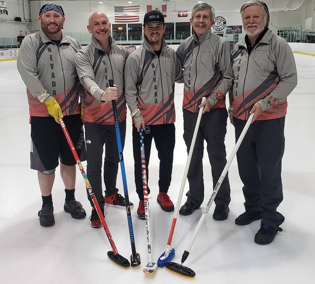 Special to the Pahrump Valley Times Parhump resident Tom Duryea, right, and Las Vegas Curling C ...