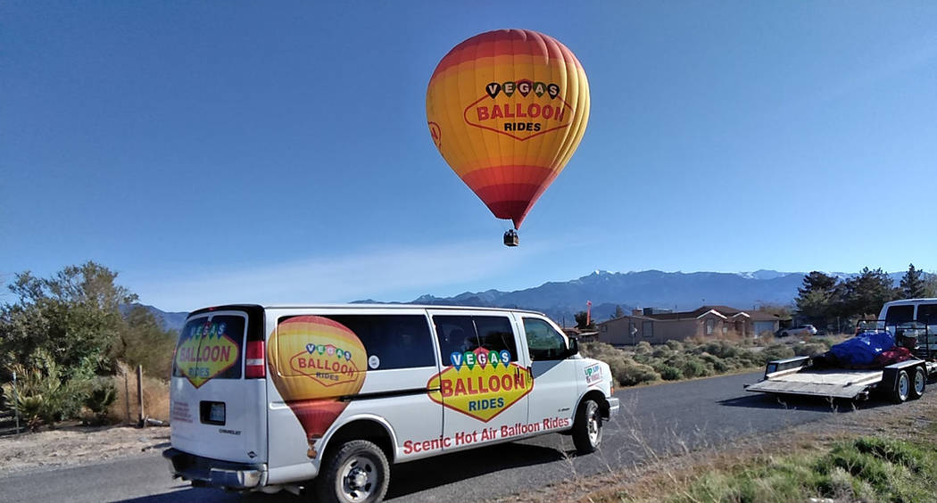 Selwyn Harris/Pahrump Valley Times A Presidential visit to Las Vegas forced Vegas Balloon Rides ...
