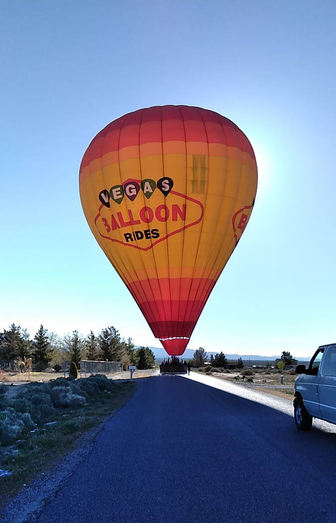 Selwyn Harris/Pahrump Valley Times Pilot Jonathan Wright makes a perfect landing after flying r ...