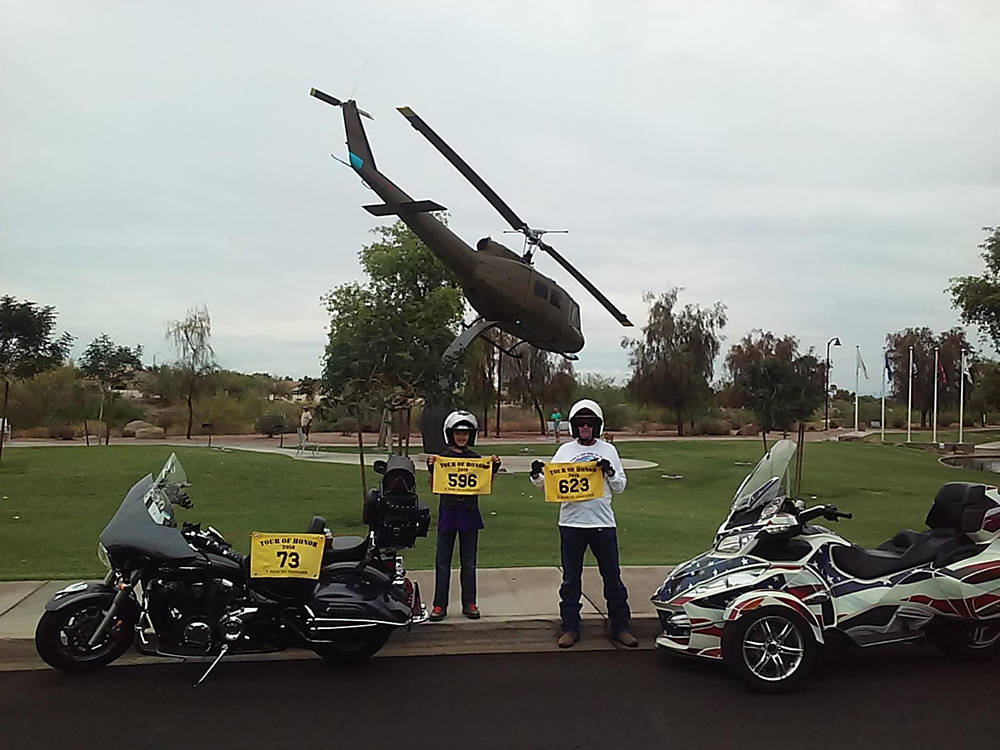 Special to the Pahrump Valley Times Matthew McAtee of the Tour of Honor snapped this photo of h ...