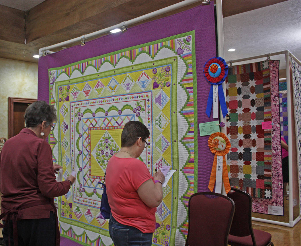 Robin Hebrock/Pahrump Valley Times After carefully observing the Best in Show winner for the 20 ...