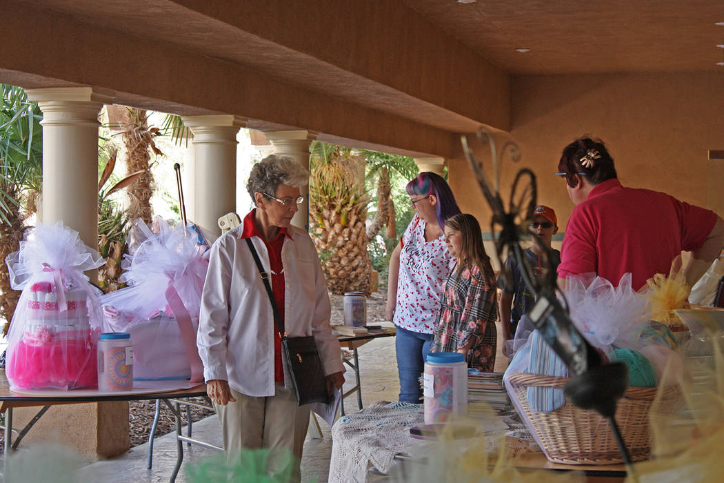 Robin Hebrock/Pahrump Valley Times Raffle prizes were so numerous this year that there were set ...