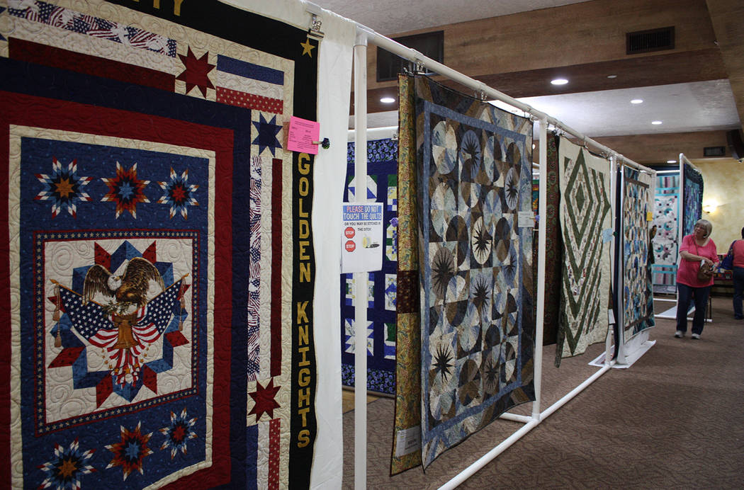 Robin Hebrock/Pahrump Valley Times Quilts filled the Nevada Treasure RV Resort during the Pins ...