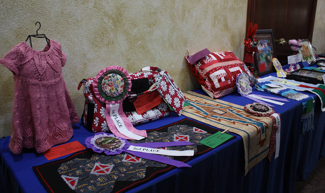 Robin Hebrock/Pahrump Valley Times Quilts were far from the only entries in the competition at ...