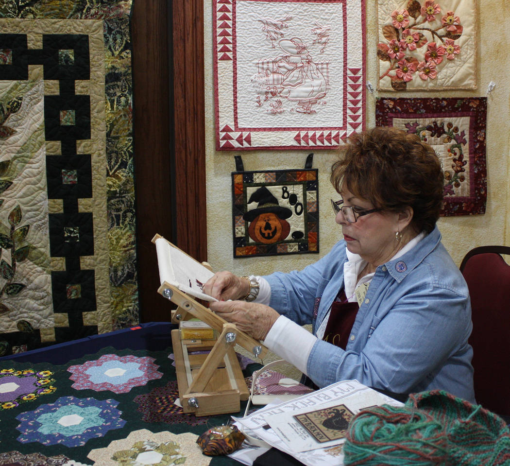 Robin Hebrock/Pahrump Valley Times The 2019 Pins and Needles Quilt Show Featured Needleworker w ...