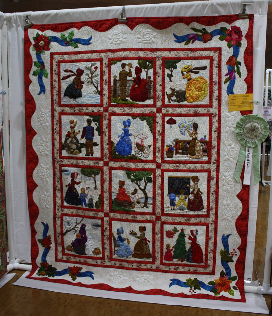 Robin Hebrock/Pahrump Valley Times The amazing detail and striking colors of this quilt, an ent ...