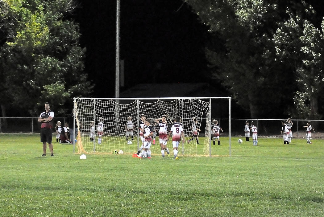 Horace Langford Jr./Pahrump Valley Times New lights shine on Pahrump Junior Trojans Soccer Club ...