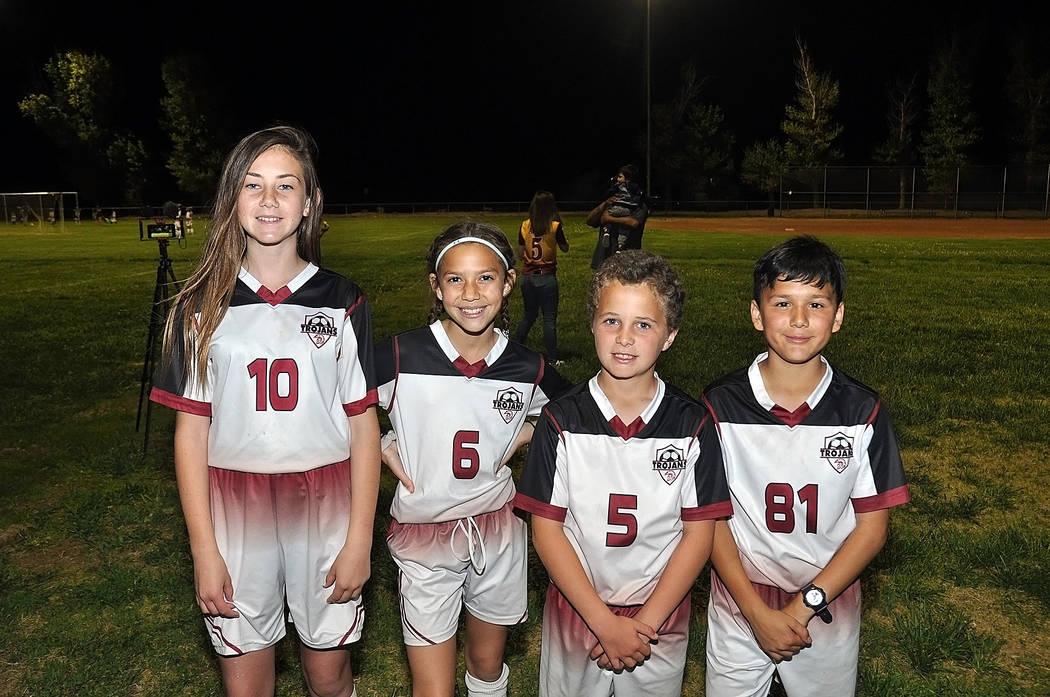 Horace Langford Jr./Pahrump Valley Times Pahrump Junior Trojans Soccer Club players, from left, ...