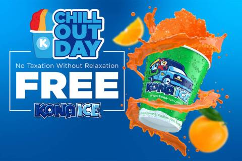 """Special to the Pahrump Valley Times During """"National Chill Out Day,"""" Kona Ice will provide free ..."""