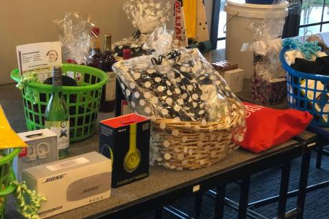 Tom Rysinski/Pahrump Valley Times Prizes available at the Pahrump Valley Youth Golf Founders Cl ...