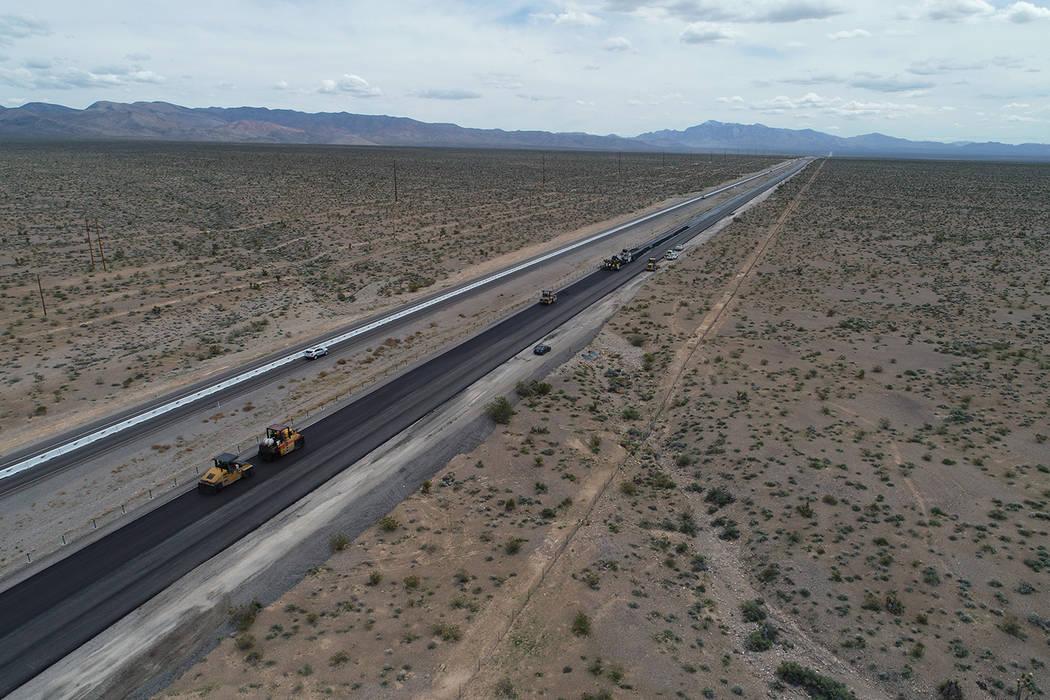 Nevada Department of Transportation Construction crewman have worked over the last several mont ...