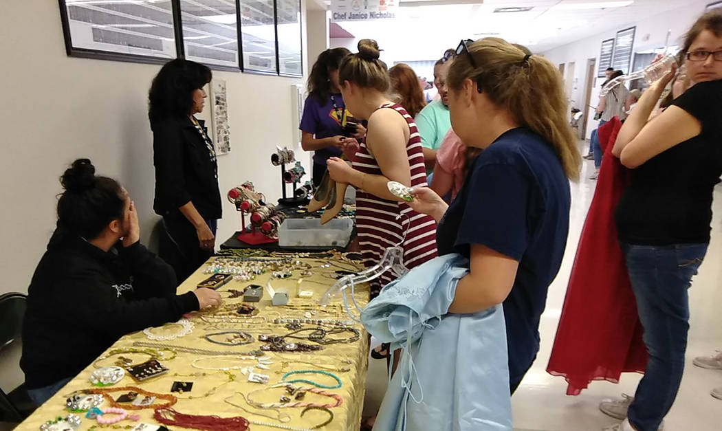 Selwyn Harris/Pahrump Valley Times A generous donation of high quality costume jewelry and fash ...