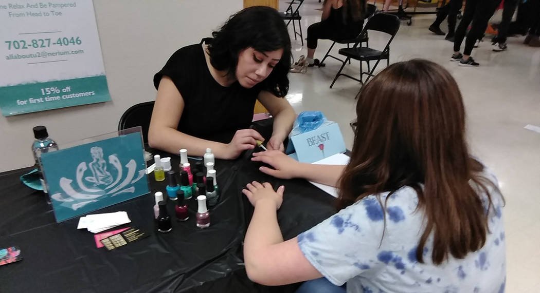 Selwyn Harris/Pahrump Valley Times Professional nail stylists and fashion consultants were also ...