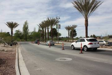 Robin Hebrock/Pahrump Valley Times Taken on April 4, this photo shows cars entering the Mountai ...