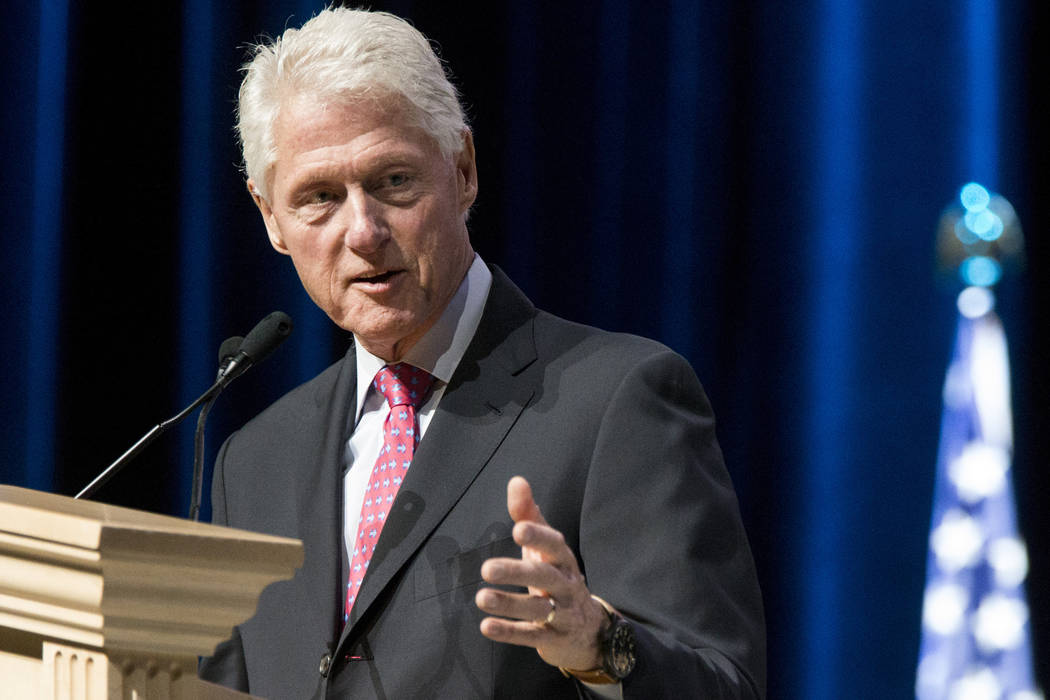 Erik Verduzco/Las Vegas Review-Journal President Bill Clinton speaks during the Asian American ...