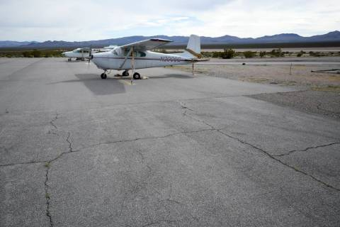 Richard Stephens / Special to the Pahrump Valley Times The north part of the apron will be torn ...