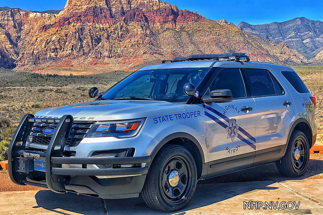 Nevada Highway Patrol rolled out its first silver vehicles on Thursday, April 4, 2019. (Nevada ...