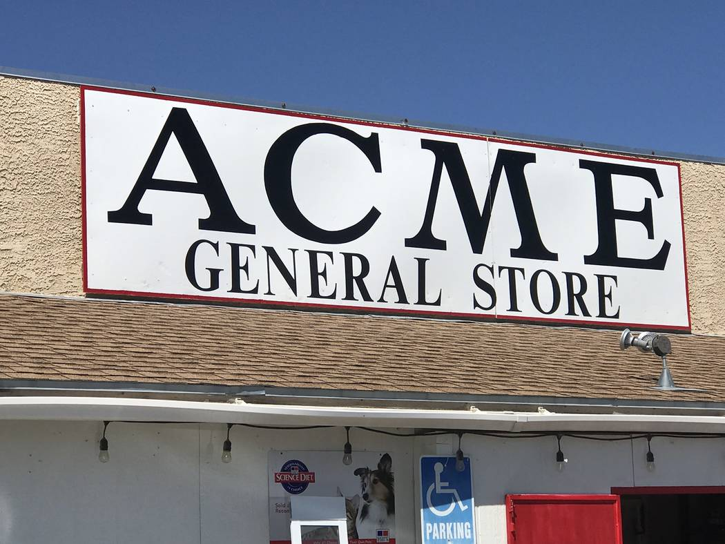 Jeffrey Meehan/Pahrump Valley Times Acme General Store at 800 West Street in Pahrump is now ho ...