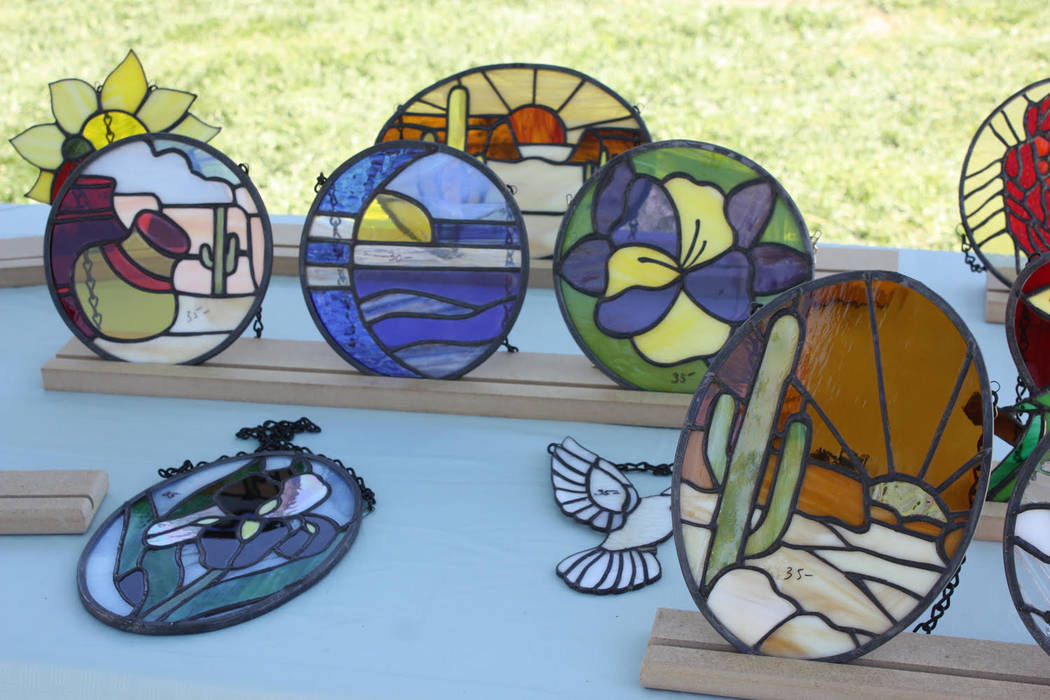 Robin Hebrock/Pahrump Valley Times Stained glass was just one of the many types of artwork on d ...