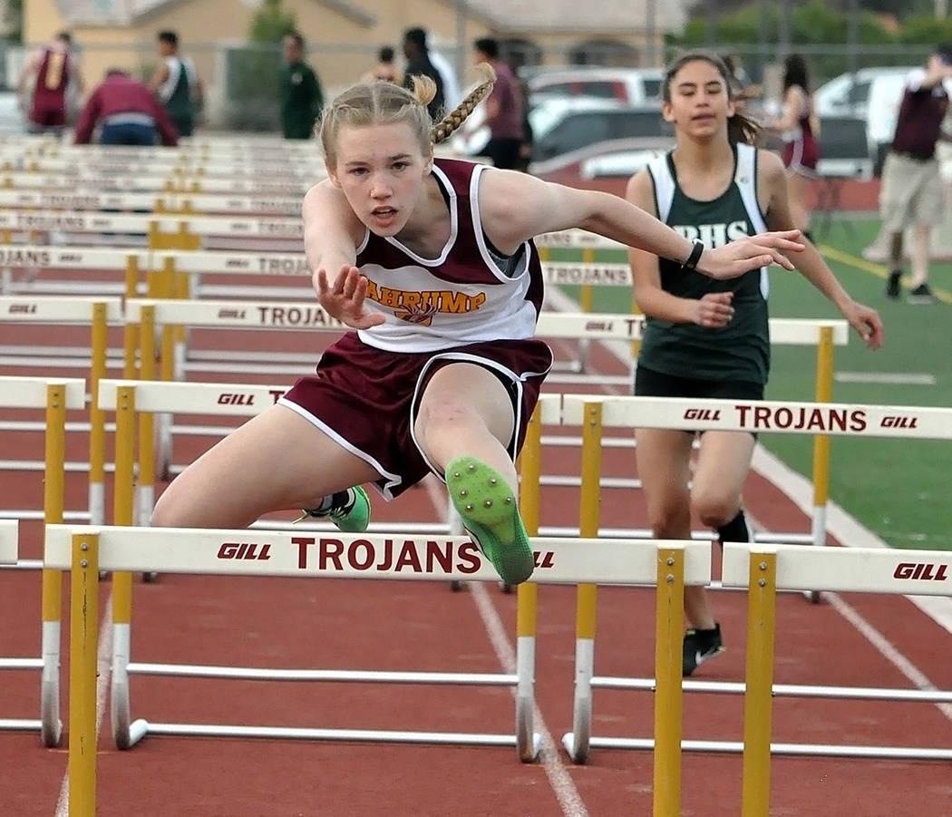 Horace Langford Jr./Pahrump Valley Times Pahrump Valley freshman Georgina Avent finished fifth ...
