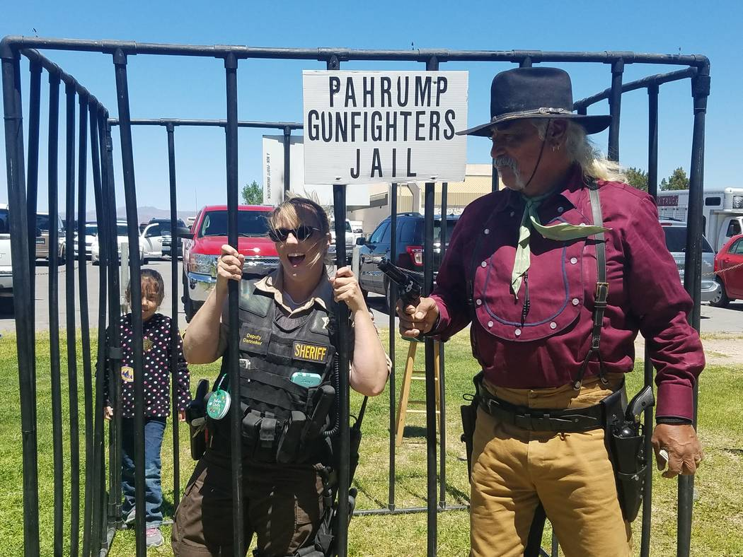 Deberra Mendyk/Special to the Pahrump Valley Times The Pahrump Valley Gunfighters had a booth, ...