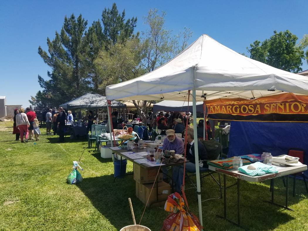 Deberra Mendyk/Special to the Pahrump Valley Times A line of vendor booths set up at Amargosa V ...