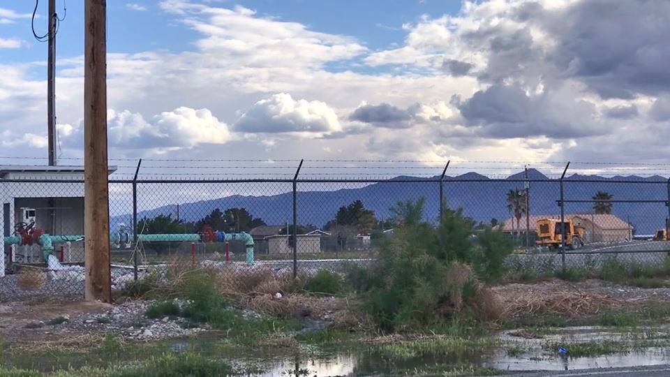 Jeffrey Meehan/Pahrump Valley Times A release of water by Great Basin Water Company led to a c ...