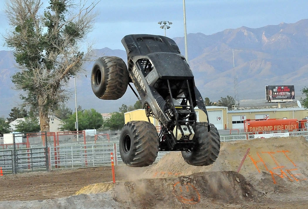 "Horace Langford Jr./Pahrump Valley Times The Monster Truck Insanity Tour included ""Marauder"" sh ..."