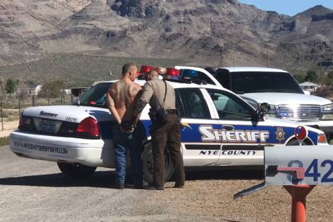 Jeffrey Meehan/Pahrump Valley Times The Nye County Sheriff's Office arrested more than 30 peopl ...