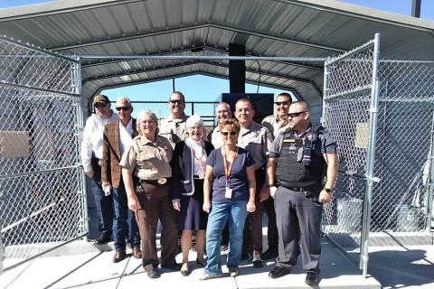 Selwyn Harris/Pahrump Valley Times Nye County Sheriff's Office Evidence Technician Tammy McGill ...