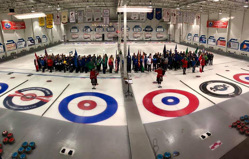 Special to the Pahrump Valley Times All 28 teams assemble on the ice April 17 at the Richmond C ...