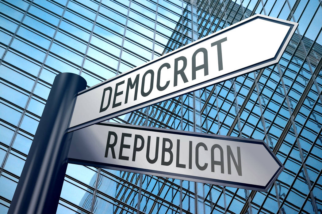 "Getty Images Columnist Dennis Myers mentions a time ""when Republicans and Democrats still talke ..."