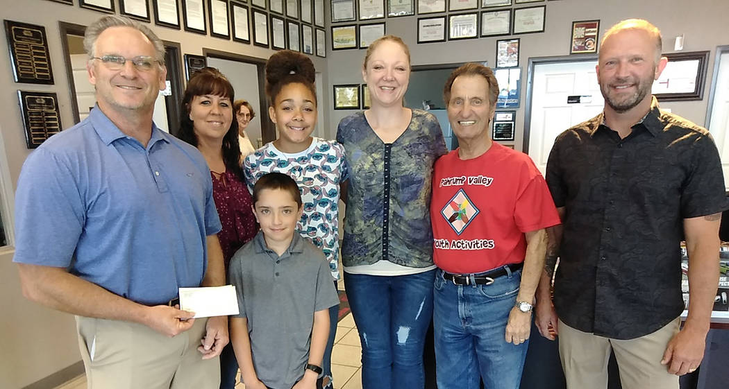 Selwyn Harris/Pahrump Valley Times Pahrump Valley Youth Activities, (PVYA) program President To ...