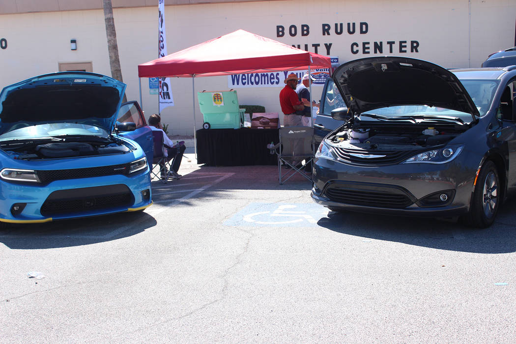 Jeffrey Meehan/Pahrump Valley Times Saitta Trudeau Chrysler Jeep Dodge put some of its new cars ...